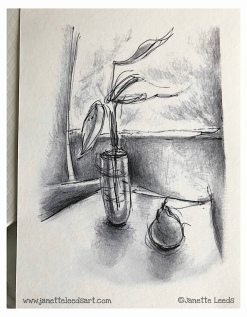 A print I did of my graphite pencil drawing.