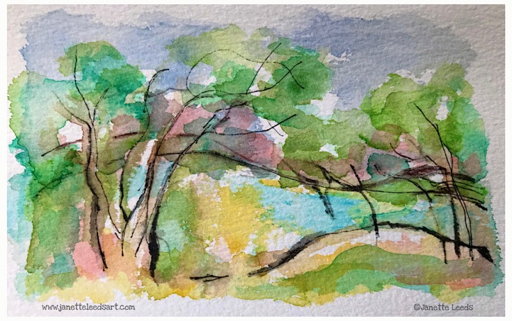 Watercolour landscape